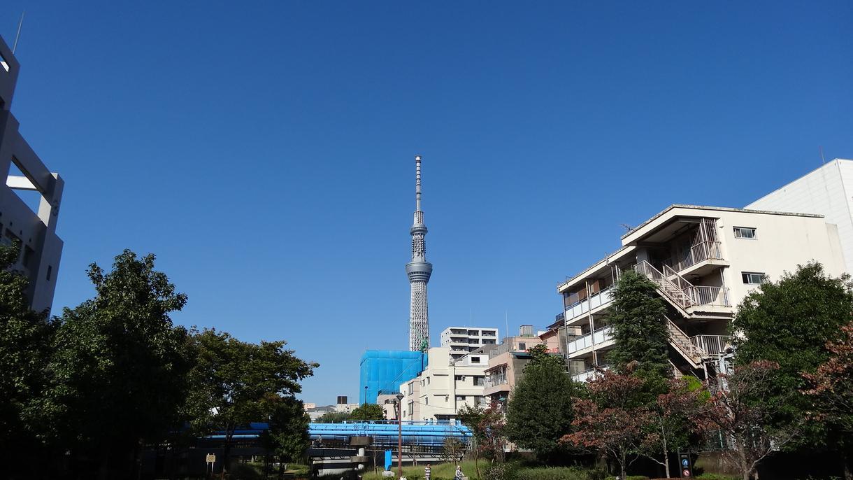 スカイツリー等、錦糸町周辺で散歩しながら写真撮影します。