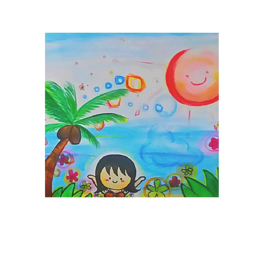 子供っぽくてほんわか可愛いイラスト描きます 子供の描いたような
