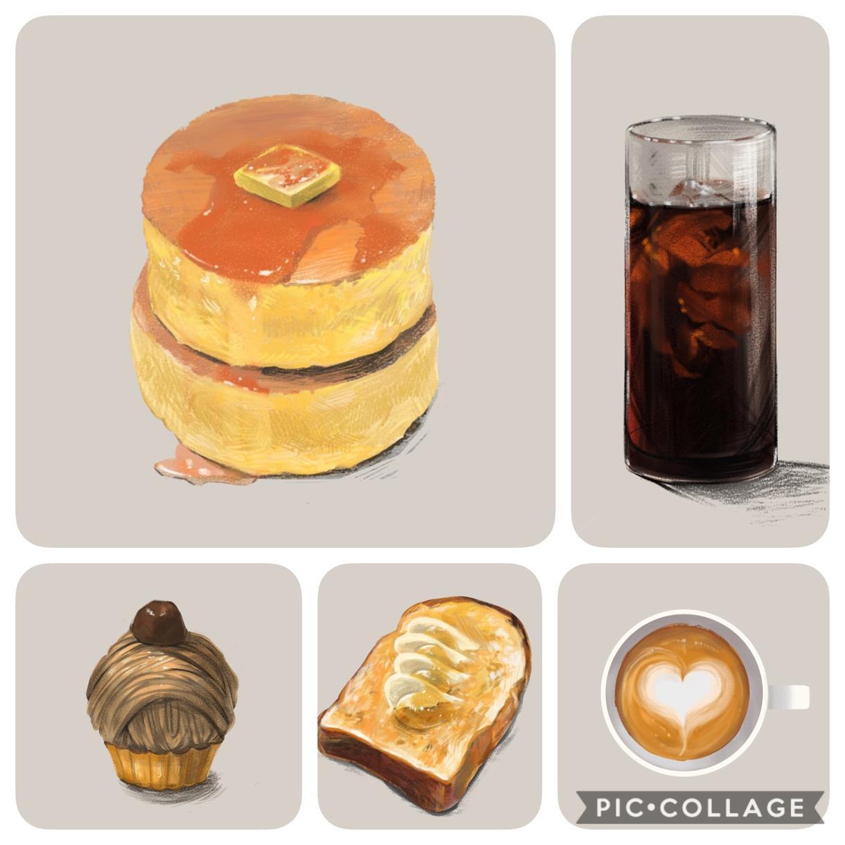 あたたかみのある食べ物のイラストを描きます メニューや雑誌、Webでの食べ物レポ等にいかがでしょうか!