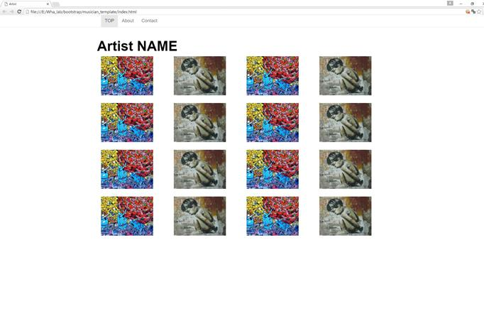 ホームページ制作(アーティスト、フォトグラファーの方)致します。【スマホ/PC対応】【簡単】【リーズ イメージ1