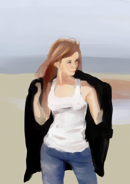 SNSアイコン作成します とりあえずかわいい女の子を厚塗りちっくに描きます