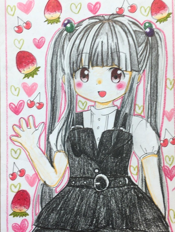 可愛い女の子のイラスト、お届けします ゆめかわいい女の子なら、お任せ下さい♬