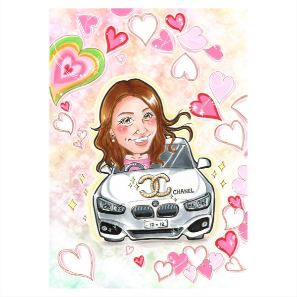 心を込めてかわいい似顔絵描きます 名刺、ブログ、SNSアイコン、結婚式のウェルカムボードにも!