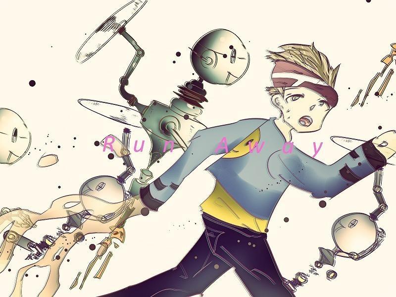 人間型ロボット+人間 オリジナルイラスト作成します SF ロボット 近未来 イラスト作成 イメージ1