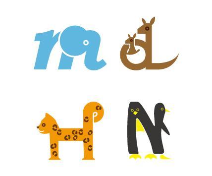 アルファベットで動物を作ります!