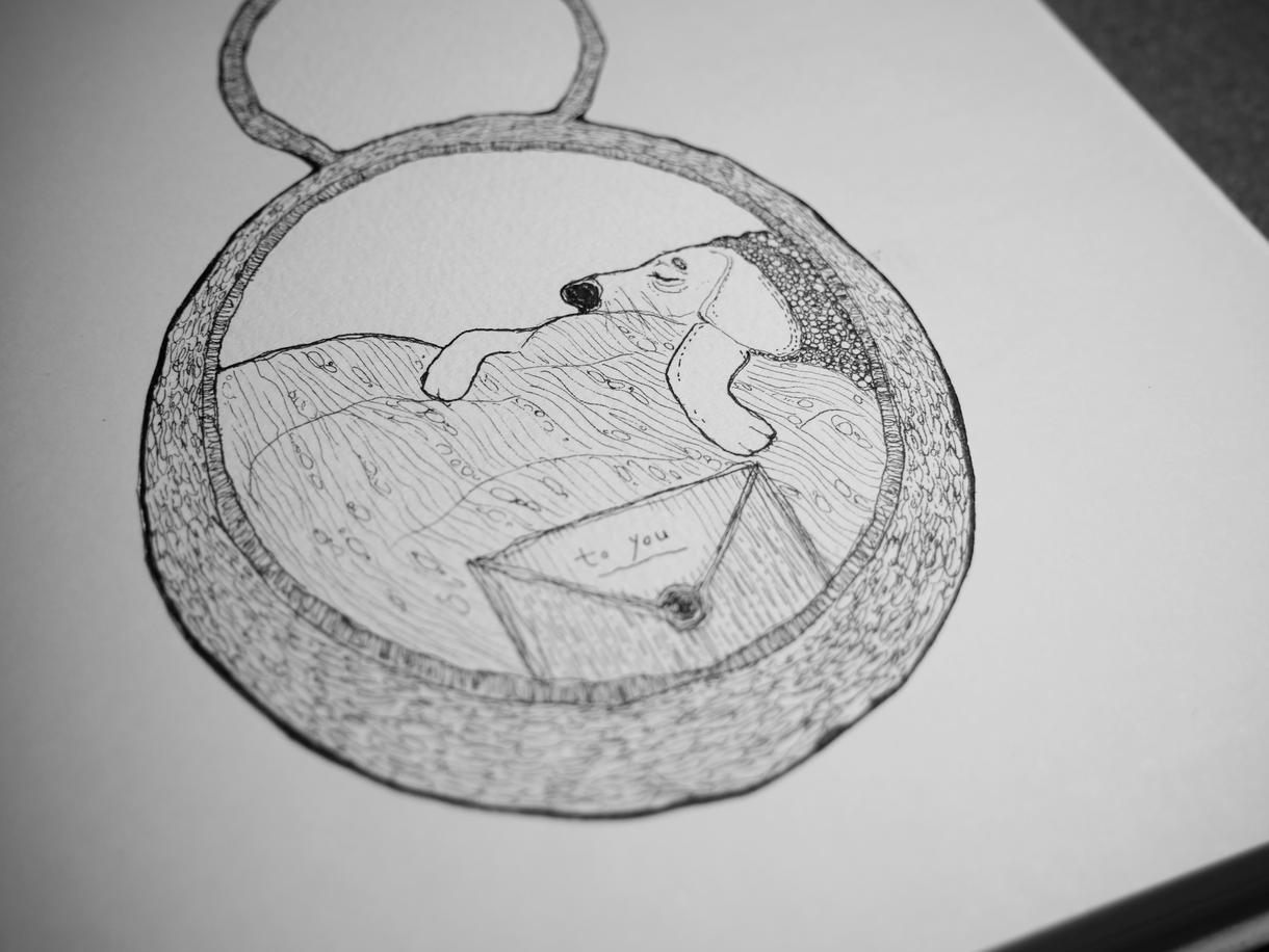 手書きの線画をお描きします 手書で味のある線が特徴の線画をお描きします