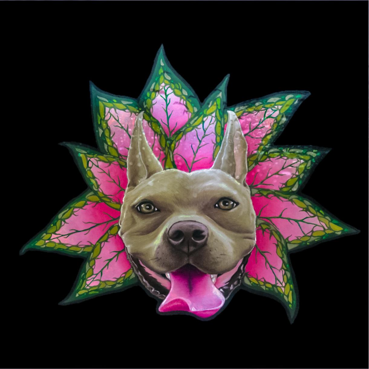 チョークアートで愛犬似顔絵描きます 大好きなワンコをPOPで可愛い絵にします! イメージ1