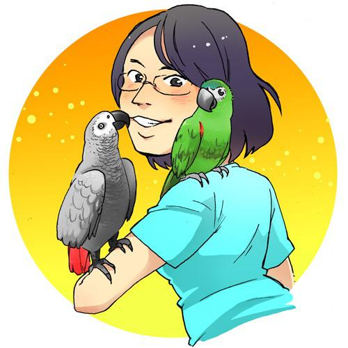 SNS用の似顔絵【大好きなペットや趣味の小物と一緒に!】