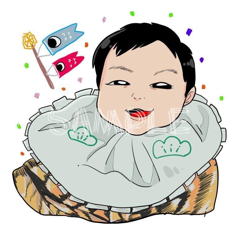 お写真を元に可愛いイラスト化した似顔絵を描きます SNSのアイコン、プレゼントなどに!