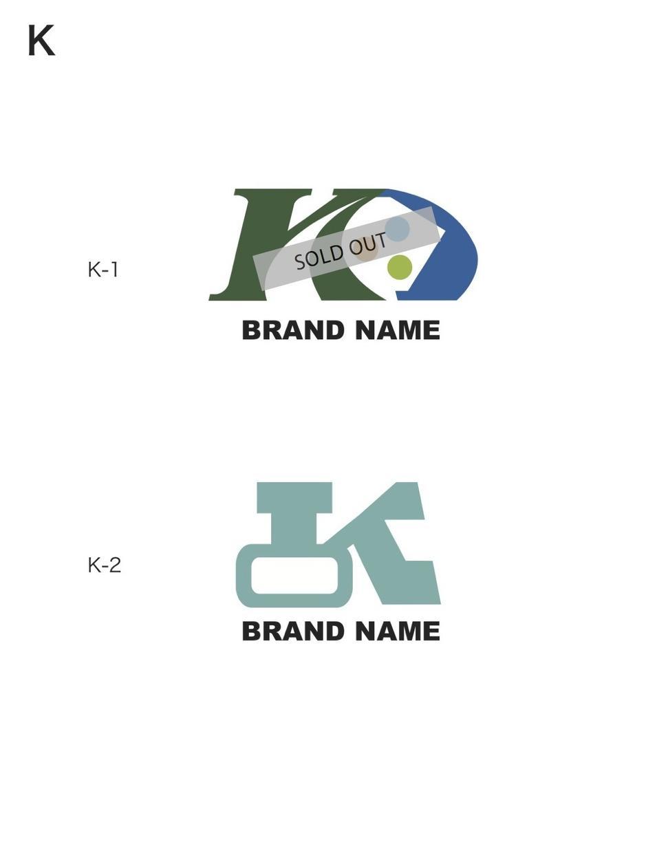 限定!「K」頭文字のブランドロゴ販売します 重機イメージのマークです。メンズフッァションブランドにも!