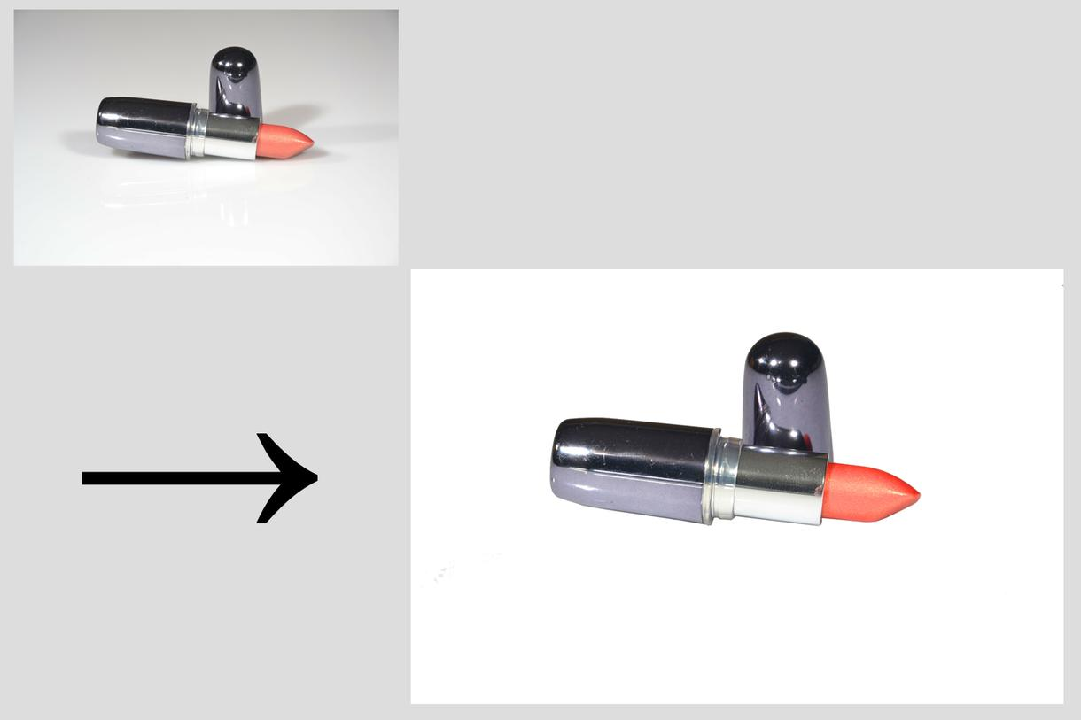 オンラインショッピング、オークションサイト用に 商品画像を切り抜き加工(白抜き)&簡単なレタッチ(色