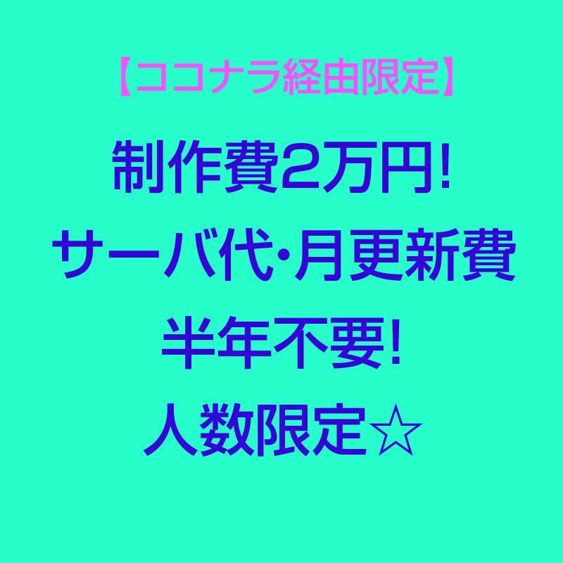 ココナラ経由限定 サイト制作します 制作費2万円!サーバ代・月更新費半年不要!人数限定☆