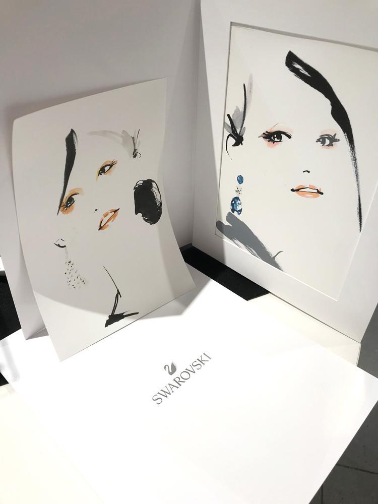 水彩でファッション画タッチの似顔絵を制作いたします プロのイラストレーターが業界で培ったスキルでドラマチックに。