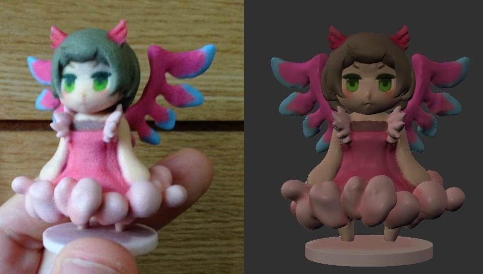 お試し あなたのキャラクターを3D化します 3D出力が利用できる形式のデータを作ります。※デフォルメのみ
