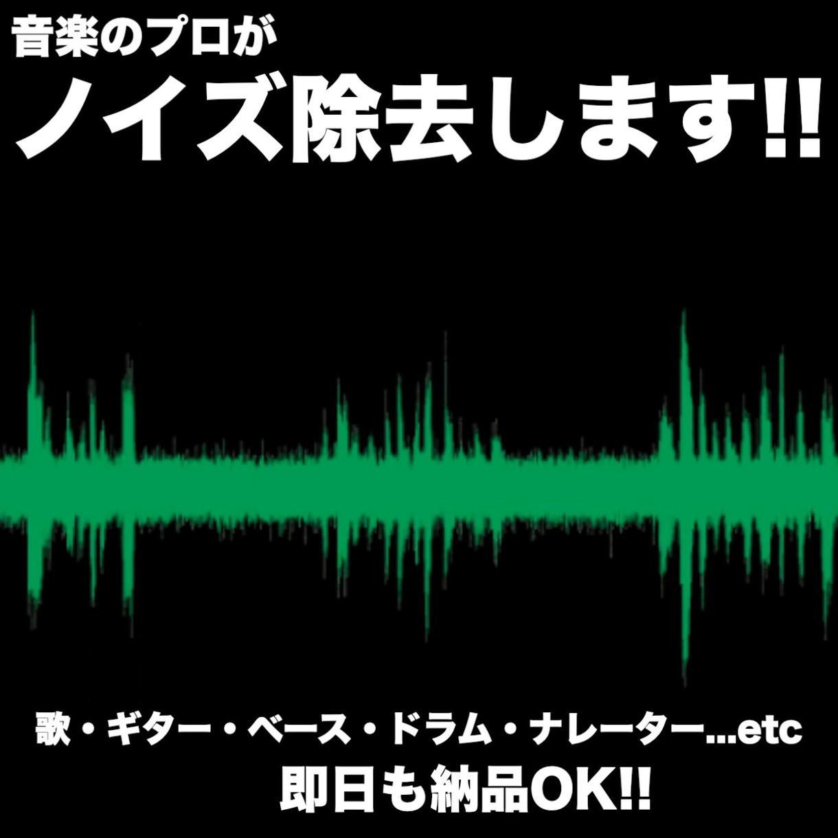 ノイズ除去・整音します 音楽のプロがノイズを取り除きます!! イメージ1
