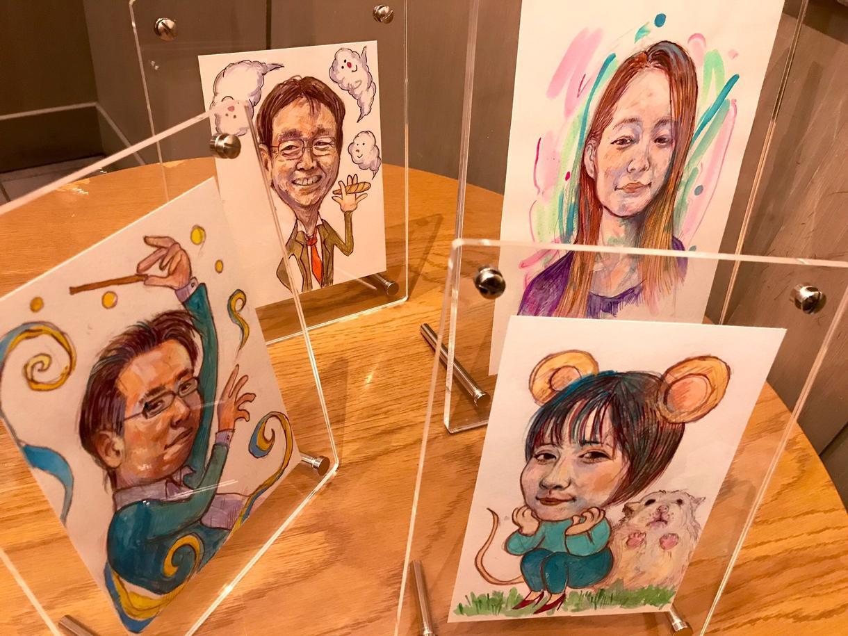 似顔絵、イラスト、挿し絵カットなど広く承ります デフォルメ少ない色彩豊かな絵画的な似顔絵を承ります。