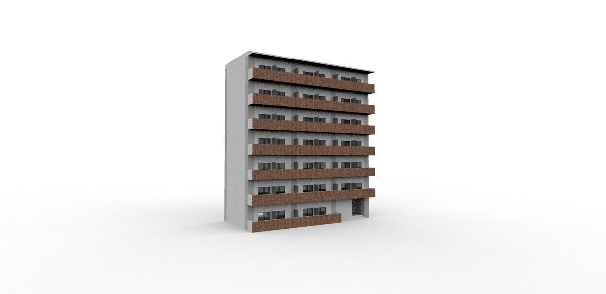 建物のCGパースを作ります 元組織設計事務所所員の仕事をお手頃価格で提供します!