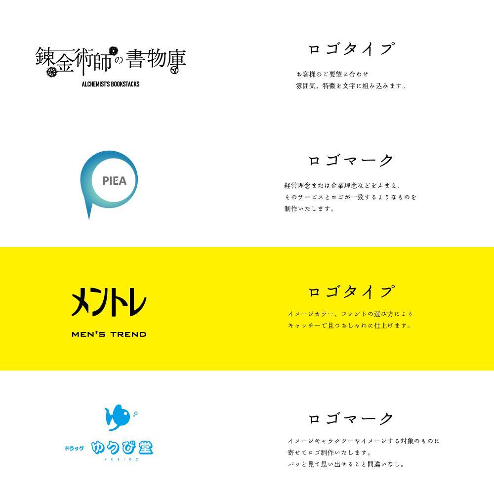 ロゴ作成。何度でも修正依頼承ります 現役ディレクターがロゴの意味から徹底サポート!