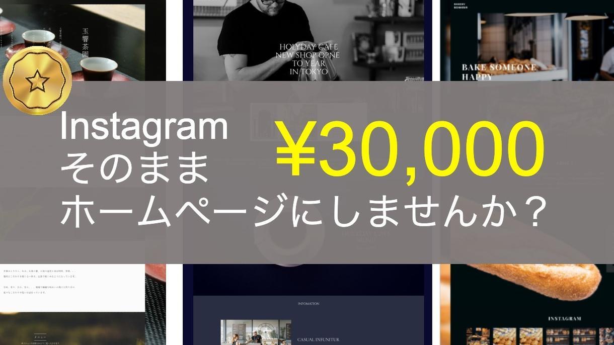 Instagramからホームページ作成します 面倒な写真の準備が不要。だから安い。速い。 イメージ1