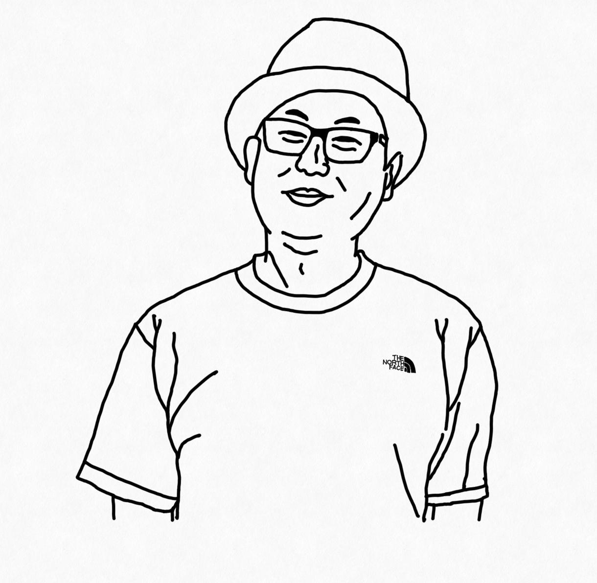シンプルでオシャレな似顔絵を描きます お顔の写真さえ頂ければ一人1000円で描きます!