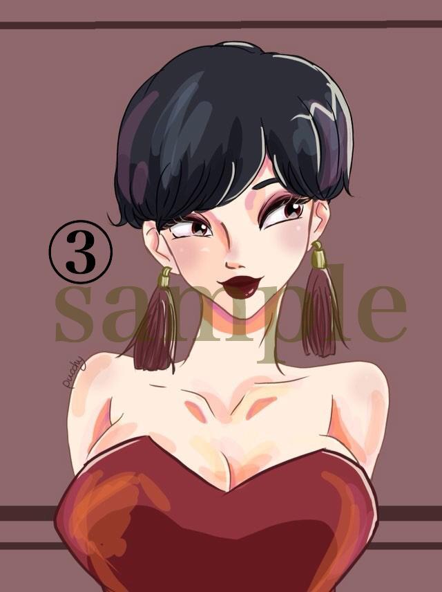 SNS用のアイコン☆描きます 可愛い女の子はいかがでしょうか