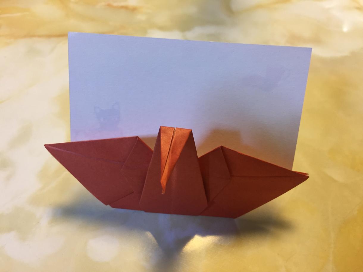 折り紙のお祝い席札、鶴のポチ袋作ります 席札でテーブルを華やかに!一工夫あるポチ袋を作ります!