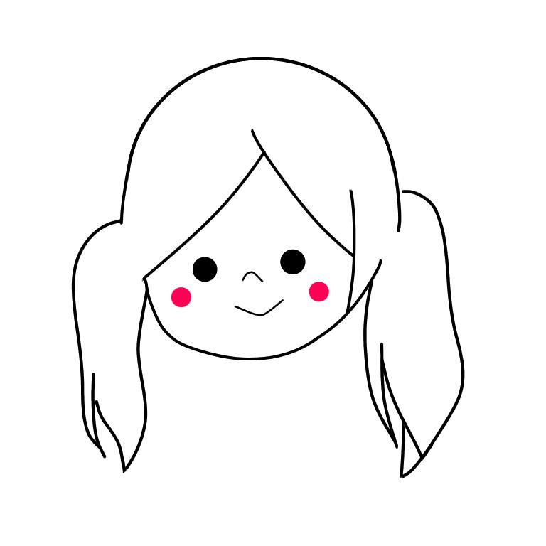 名刺や商用に。ほんわか似顔絵書きます カラー無し可。お写真を元にシンプルな似顔絵を描きます。