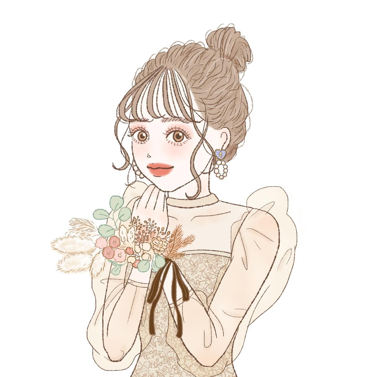 fiore様専用 イラストお描きします イメージガールをお描きします❤︎