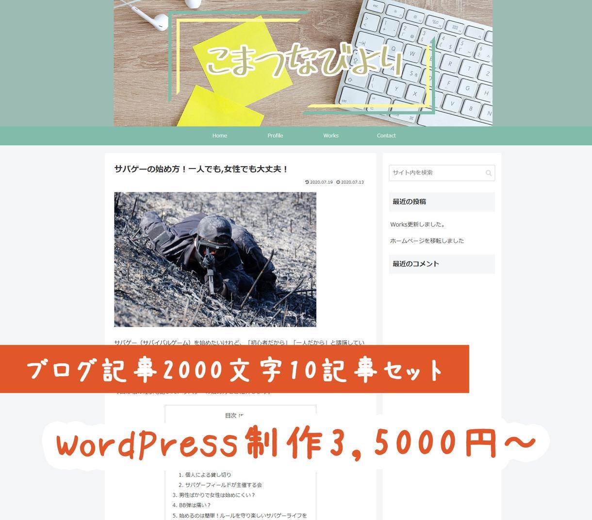 ブログ10記事セット!ブログ作成いたします WordPressでのブログ制作をブログ記事執筆とセットで! イメージ1