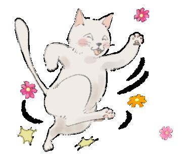 あなたの猫を好きなポーズでイラストにします 人間ぽいポーズでかわいくアピールします♡