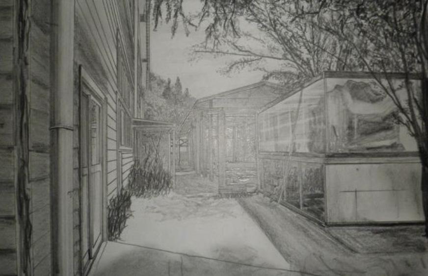 先着【5名】⭐️鉛筆で建物を描きます マイホームを購入した記念に。取り壊される小学校の思い出に。