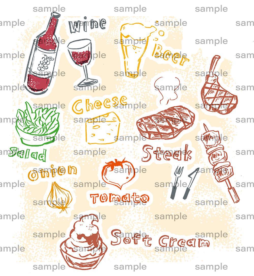 食べ物のイラストを描きます シズル感のあるイラストで商品をより魅力的に伝えます!