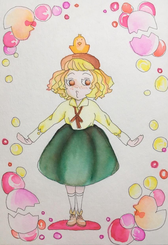 色鉛筆と水彩で柔らかポップなイラスト描きます 手描きならではの