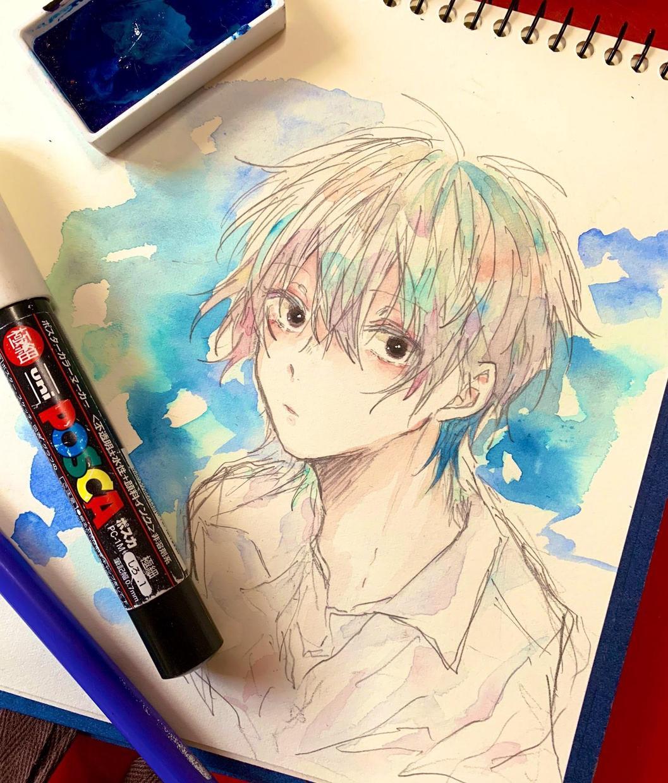 水彩イラスト描きます 描いた作品は郵送することも可能です!