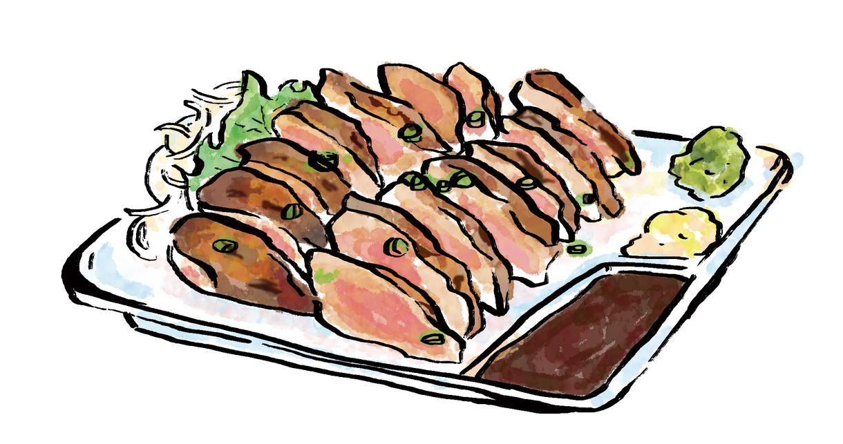 筆風イラスト描きます 和風テイスト。飲食店メニューやフライヤー等に!