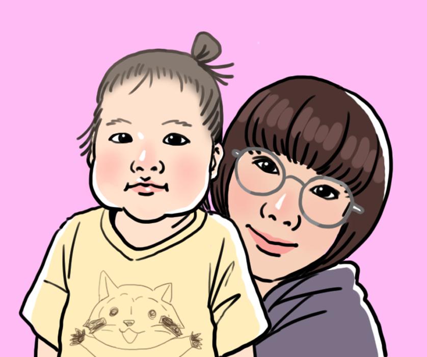 子どもや赤ちゃん、家族の似顔絵アイコンを描きます 育児ブログやSNS用のアイコンにオススメ!