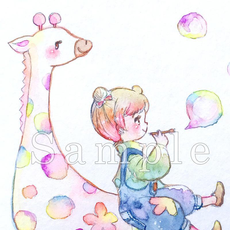 水彩でオリジナルアイコンをお描きします ★アナログでほっこり可愛い★あなただけのアイコンを!