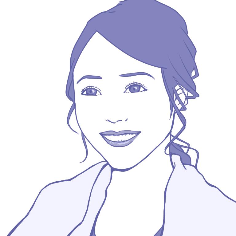 シンプル美人画描きます SNSのアイコンなどに!シンプルな男性、女性画を描きます。
