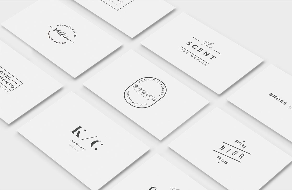 センスを感じるモダンでシンプルなロゴを制作します 流行や時代に左右されない長く使える安定したロゴデザイン