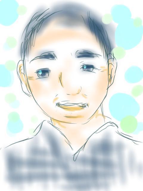 コミックタッチのやわらかなデジタル似顔絵描きます やさしい似顔絵届けます。デジタルなのにふんわりです