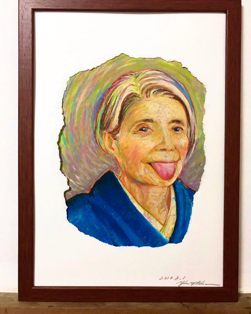 家を彩るアートを提案致します クレパスの温もりを活かして笑顔の似顔絵をお描きます。 イメージ1
