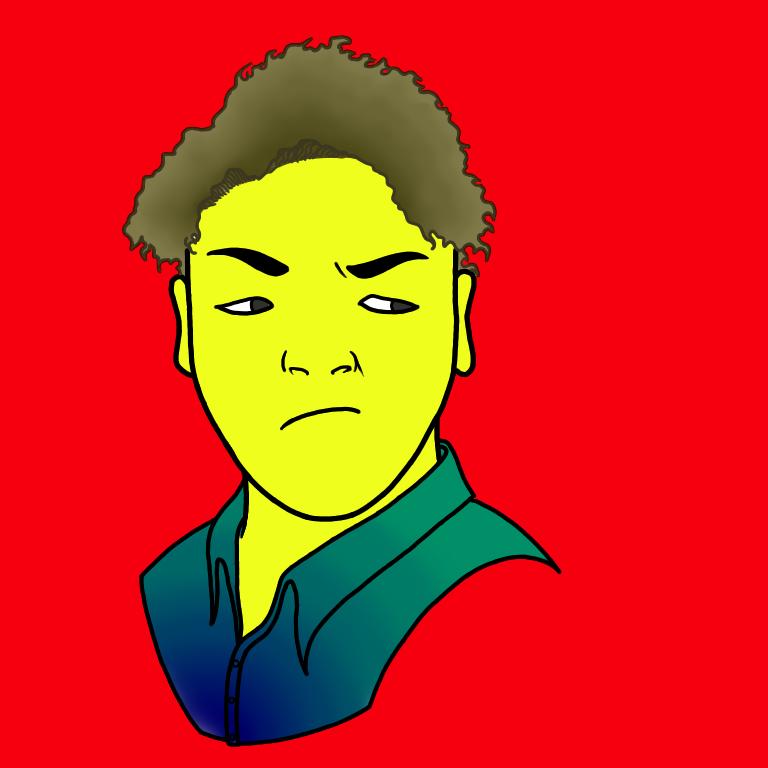 ポップアート風の似顔絵描きます SNSアイコンにすれば一際目立つカラフルな似顔絵