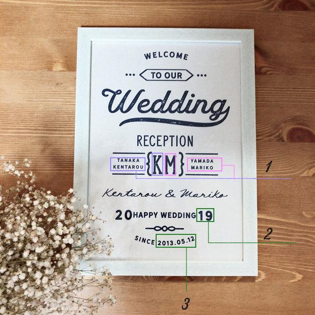 オリジナルのウェルカムボードを作ります これから結婚式をされる方、ウェルカムボードのプレゼント等に