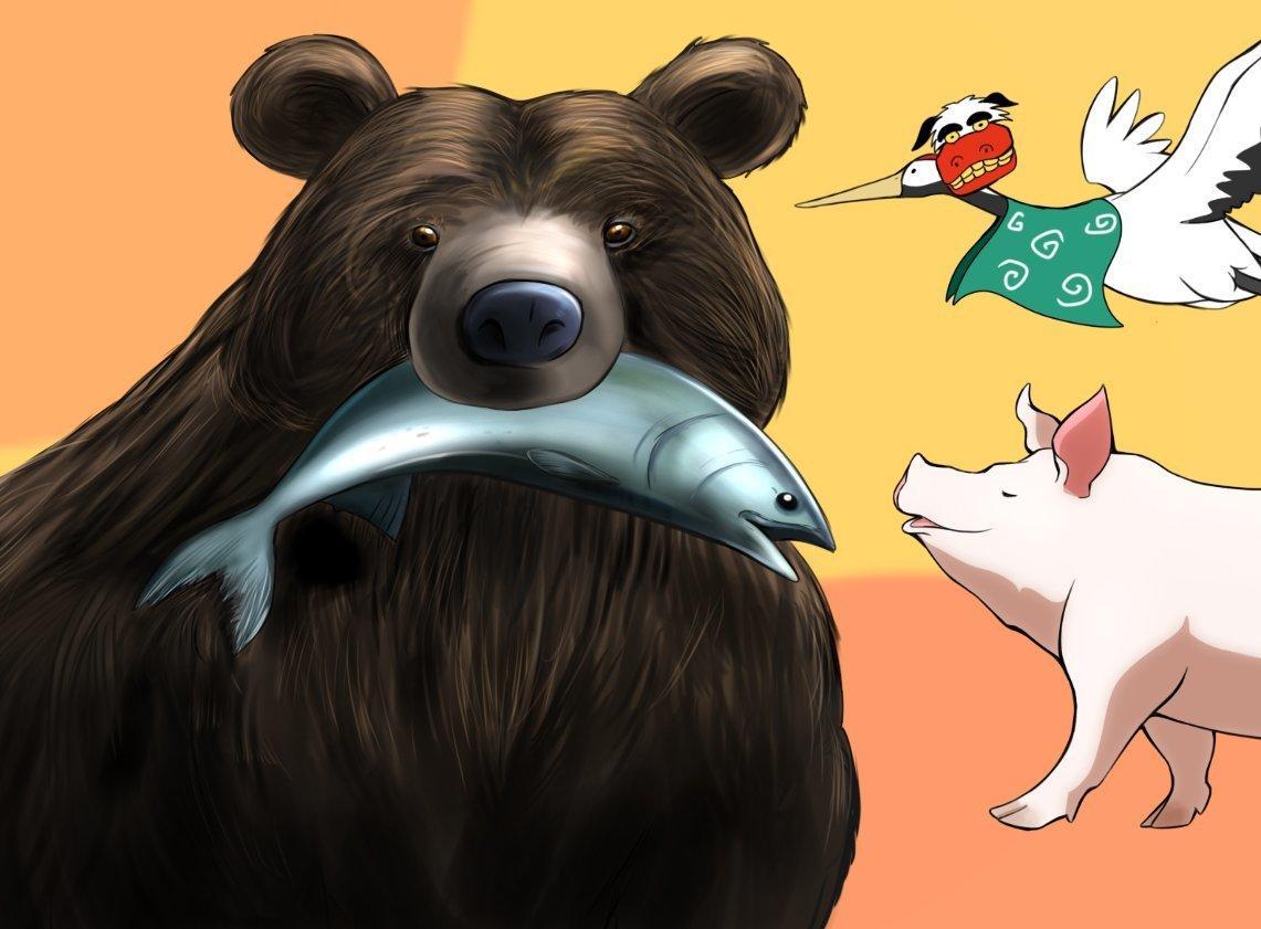 色々な動物のイラストを描きます アイコン、挿絵、ペットの似顔絵等にオススメです