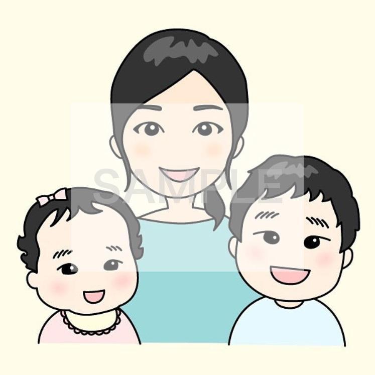 シンプル・かわいい★似顔絵をお描きします SNSアイコン・プレゼントなどに!