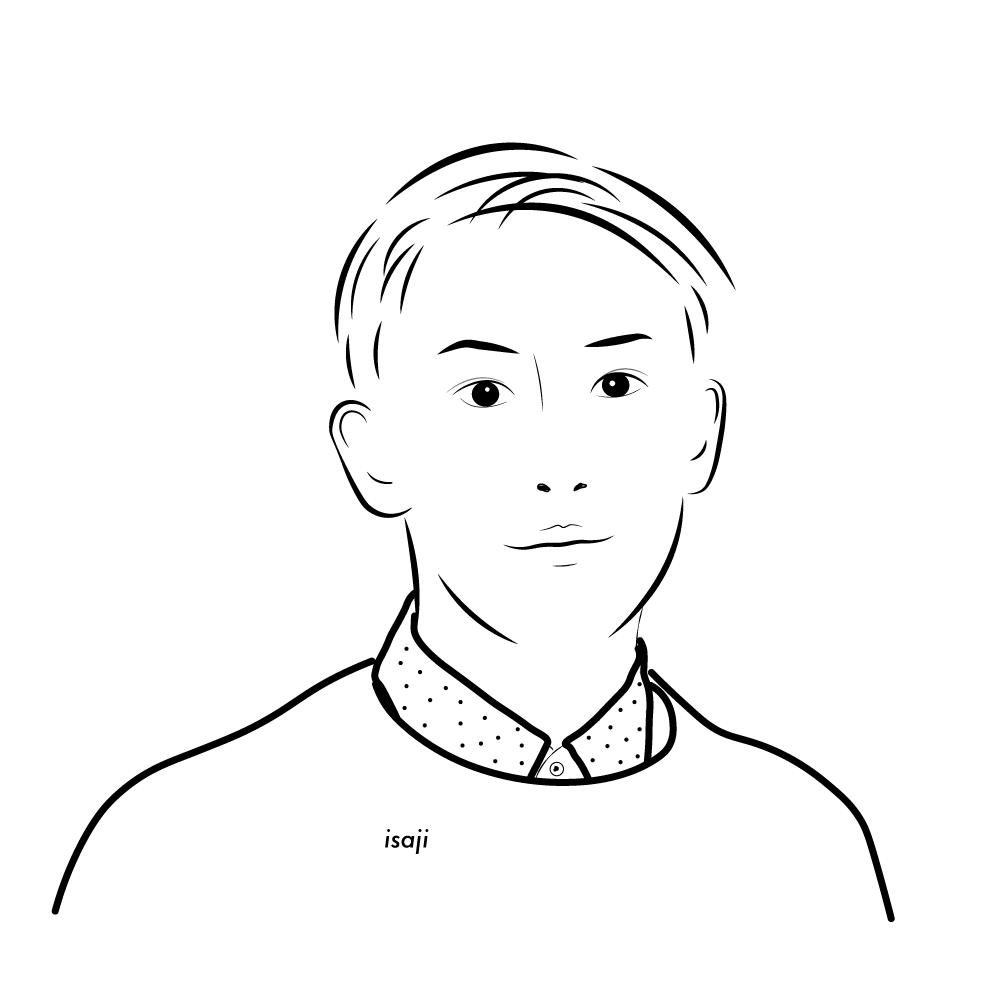 カッコいいタッチであなたの似顔絵を描きます 独特のタッチで、今より魅力的なプロフィール写真載せませんか?