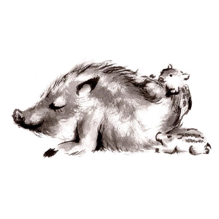 味わいのある墨絵イラスト描きます 丁寧を心掛けて制作しております。 イメージ1
