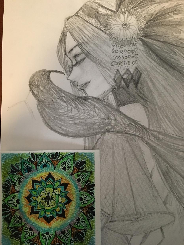 あなただけのオーラ、カラーの曼荼羅アートを描きます オーダーメイド曼荼羅アートです