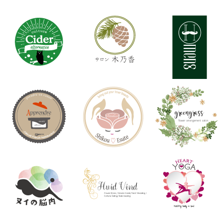店舗、サロンなどのお洒落で品のあるロゴを作ります 店舗、サロンを開く貴方へロゴ中心にイメージ統一!名刺等も作成