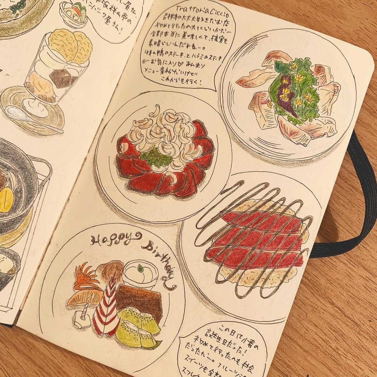 食べ物のイラスト描きます 飲食店のメニュー表などにおススメです